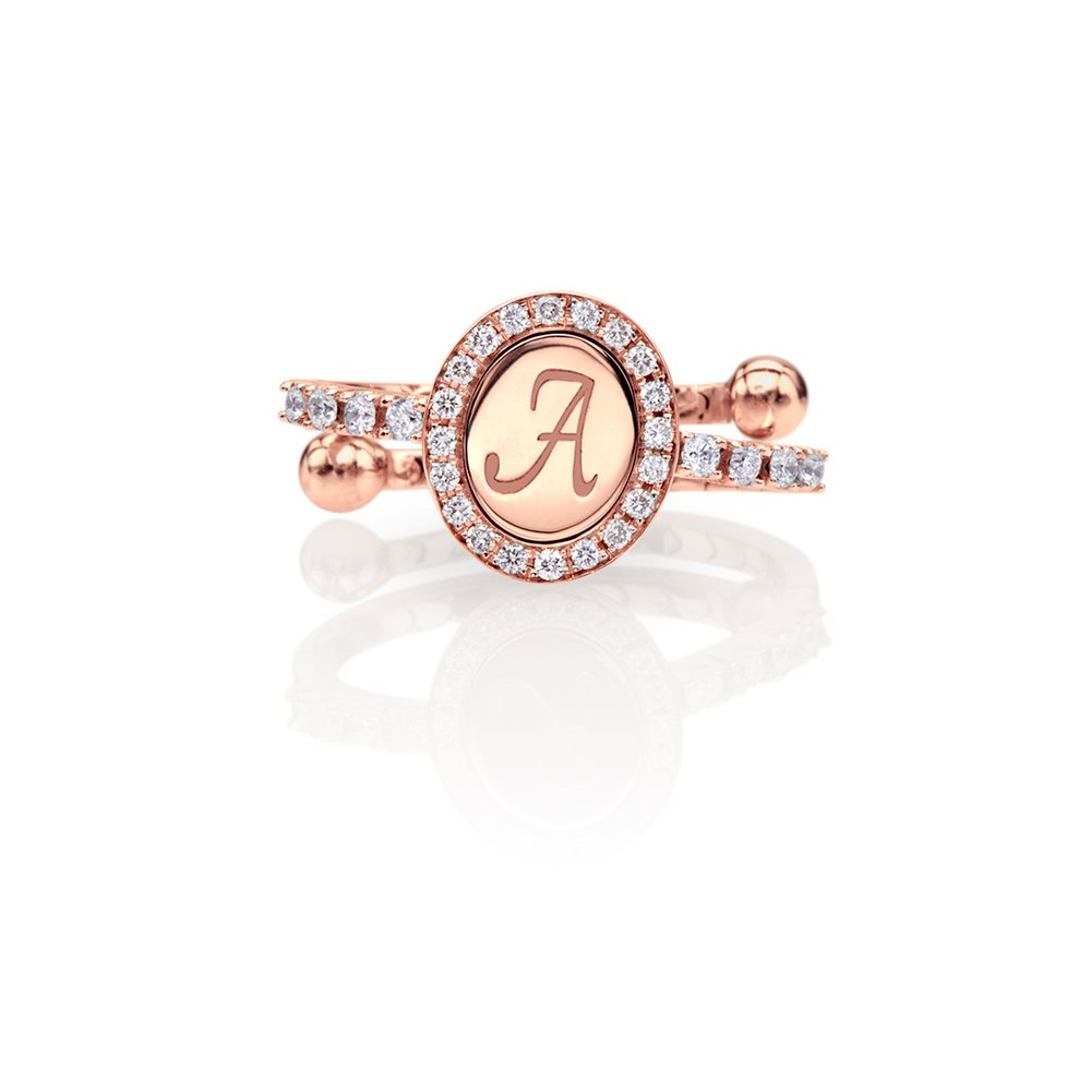 The monogram in rose